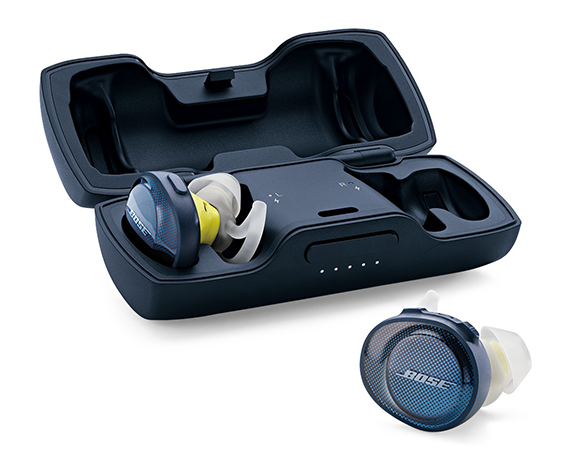 słuchawki Bose SoundSport Free wraz z etui ładującym