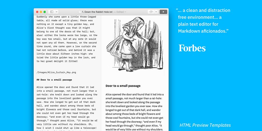 Screenshot z aplikacji iA Writer