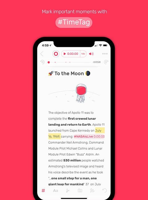 Screenshot z aplikacji Noted