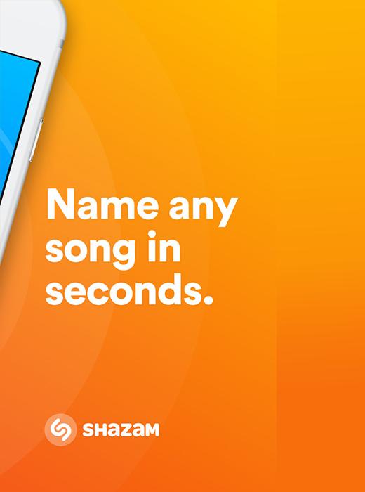 Screenshot z aplikacji Shazam