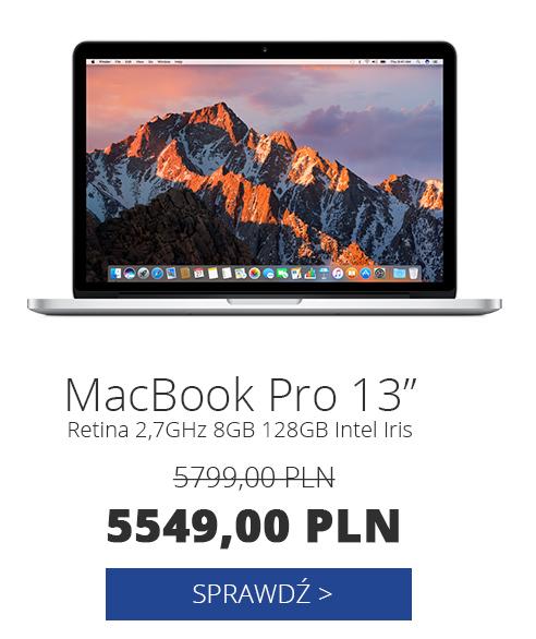"Apple MacBook Pro Retina 13"" 2,7GHz 8GB 128GB Intel Iris (2015r.)"