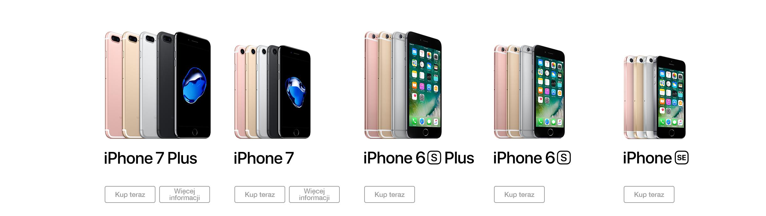 Telefony iPhone. Wybierz swój model.