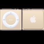 iPod shuffle w kolorze złotym