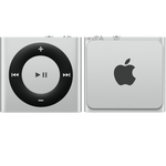 iPod shuffle w kolorze srebrnym