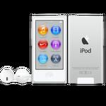 iPod nano w kolorze srebrnym