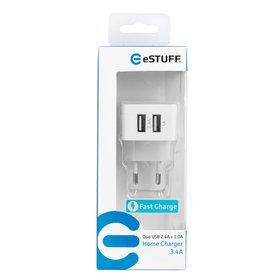 Ładowarka sieciowa eSTUFF 2 x USB