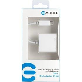 eSTUFF USB-C HDMI Charging Adapter