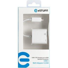 eSTUFF USB-C LAN Charging Adapter