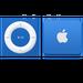 iPod shuffle w kolorze niebieskim